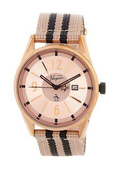 Men's Spencer Striped Strap Watch
