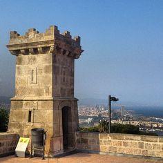 Castell de Montjuïc en Barcelona, Cataluña