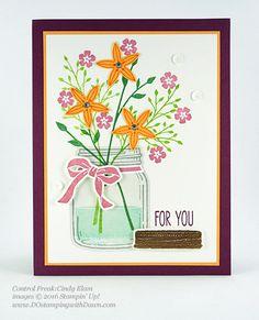 Jar of Love Bundle swap cards shared by Dawn Olchefske #dostamping #stampinup (Cindy Elam)