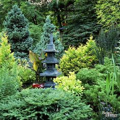 Plant evergreens, via bhg.com | 10 Elements of a Zen Japanese Garden
