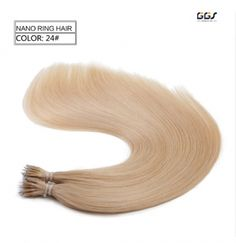 Micro Ring Hair Extensions #24 Honey Blonde Straight Wave Brazilian Hair Unprocessed Virgin Remy Nano Loop Hair Weaves 5A 100g