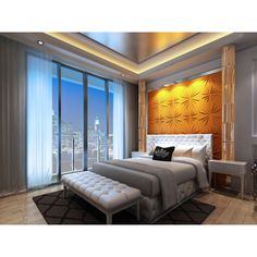 3D Contemporary Wall Panels Rays Design (Set of 10) | Overstock.com Shopping - The Best Deals on Wall Paneling
