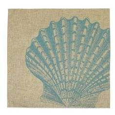Fan Shell Placemat in Turquoise - BedBathandBeyond.com