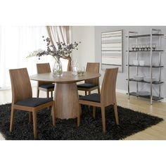Have to have it. Euro Style Wesley 5 Piece Dining Set with Deanna Chairs - $2200 @hayneedle