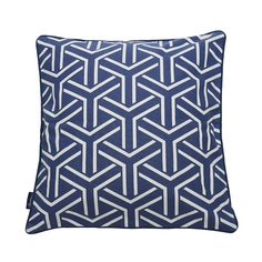 Cushion Cover Y-Pattern 50x50cm, Blue, By Andrea Brodin