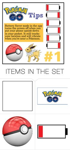 """Pokemon Go Tip #1"" by anthropolyvist on Polyvore featuring art, Pokemon and PokemonGO"