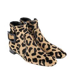 http://www.rogervivier-usa.com/ - Roger Vivier Ankle Low Boots in Leopard Print outlet