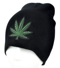 Marijuana Pot Leaf Beanie Alternative Clothing Knit Cap High Times