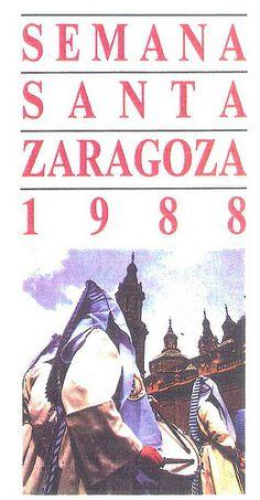 Cartel Semana Santa Zaragoza 1988