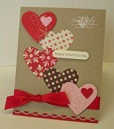 Full of hearts card