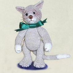 "...Bob E. Cat...  (3.5 inches tall)~ Free Amigurumi Pattern (click ""Download"")"