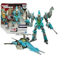 "Hasbro Transformers Generations Thrilling 30 Series Voyager Class 8"" Tall Figure - BRAINSTORM with Blasters (Vehicle Mode: Jet)"