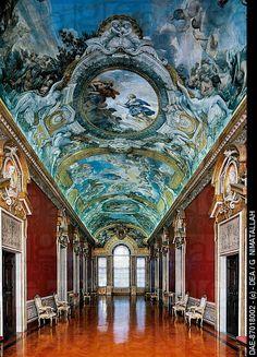 Stories of Aeneas, 1651-1654, fresco cycle by Pietro da Cortona (1596-1669), vault of the gallery, Palazzo Doria Pamphilj, Rome. Italy, 17th century .