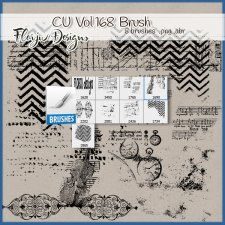Cu vol 168 Brush Florju Designs #CUdigitals cudigitals.com cu commercial digital scrap #digiscrap scrapbook graphics