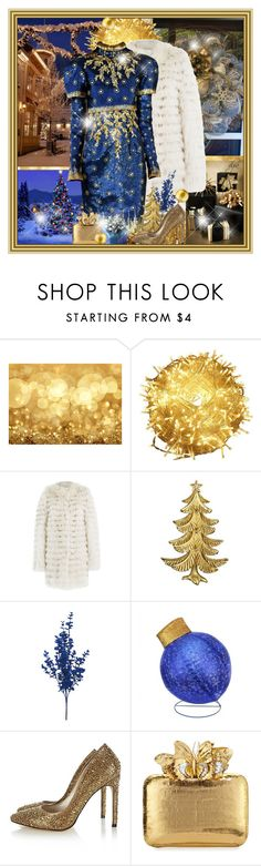 """""""Christmas night"""" by dgia ❤ liked on Polyvore featuring GE, Yves Salomon, Chanel, Karen Millen and Nancy Gonzalez"""