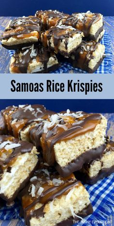 Samoas Rice Krispies Recipe. A delicious twist on Girl Scouts Samoas.