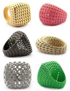 3D Printed Art. love these rings!! Maybe something for 3D Printer Chat?
