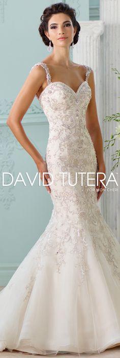 The David Tutera for Mon Cheri Spring 2016 Wedding Gown Collection - Style No. 116229 Surya #mermaidweddingdress