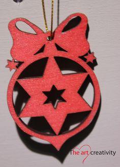 Addobbo in legno dipinto. http://www.theartcreativity.com/
