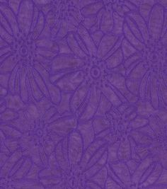 All That Glitters Fabric- Satin Burnout Floral Violet