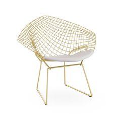 Bertoia Diamond Chair in Gold | Knoll