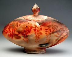 Hand Built Vessel with lid by Lauren Bellero
