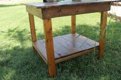 Custom Handmade Farmhouse Barnwood End Table, Nightstand or Side Table. $70.00, via Etsy.