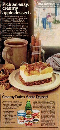 Creamy Apple Dutch Dessert with Comstock apple pie filling.