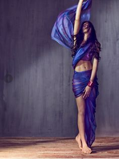 Hermes scarf inspired sari for Vogue India.