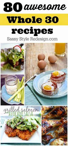 80 whole 30 recipes! sassystyleredesign.com