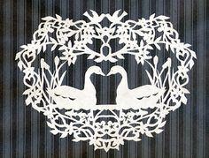 PAK-ART Alaska: Swan Scherenschnitte (Paper cutting)