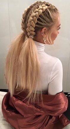 This schoolgirl favorite is all grown up. See the 12 new braided hairstyles we c… This schoolgirl favorite is all grown up. See the 12 new braided hairstyles we c…, This schoolgirl favorite is all grown up. See the 12 new braided hairstyles we c. New Braided Hairstyles, Pretty Hairstyles, Girl Hairstyles, Trending Hairstyles, Stylish Hairstyles, Hairstyle Ideas, Office Hairstyles, Teenage Hairstyles, Anime Hairstyles