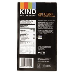 KIND 18080 Healthy Grains Bar Oats and Honey with Toasted Coconut 1.2 oz 12/Box -- Read more reviews of the product by visiting the link on the image. (Note:Amazon affiliate link) #healthydietsnacks