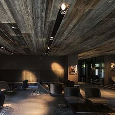 Hotel Interiors, Old Wood, Wood Paneling, Designer, Conference Room, Table, Furniture, Home Decor, Wood Boards