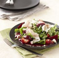 Beet Salad with Lardo, Strawberries & Cava Vinaigrette Rhode Island Rooftop Episode