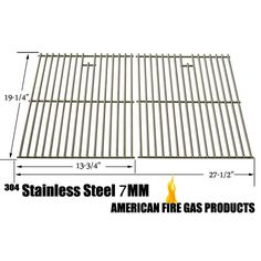 """STAINLESS STEEL COOKING GRID REPLACEMENT FOR HENDERSON SRGG41009, NEXGRILL 720-0677, PRESIDENTS CHOICE 09011042PC, 09011044PC, PC10011016, 419225, SHINERICH SRGG41009 AND SONOMA PF30LP GAS GRILL MODELS, SET OF 2  Fits Compatible Models : Altima : PF30LP NEXGRILL : 720-0677 PRESIDENTS CHOICE : 09011042PC , 09011044PC , 419225 , PC10011016 SHINERICH : SRGG41009 SONOMA : Perfect Falme PF30LP , PF30LP Fits Sonoma Models : PF30LP Fits Shinerich Models : SRGG41009 Dimensions : 19-1/4"""" x 13-3/4""""…"""