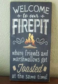 Put it by the door to the backyard, or hang right before going to the fire pit, like a flag