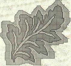 .::PONTOS DA ANA::.: Toalha de mesa em forma de folha