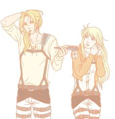 Ed and Winry / SNK coolios crossover