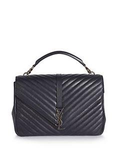 311327338382 Saint Laurent - Saint Laurent Monogram Matelasse Leather Shoulder Bag  Shoulder Strap, Leather Shoulder Bag
