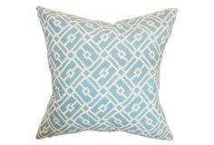 Majkin 18x18 Cotton Pillow, Turquoise