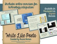 "Interactive & online poetry exercises: ""Write Like Poets"" bundle"