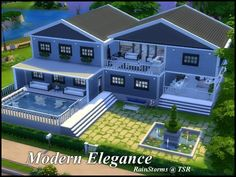 sims house inspo RainStorms' Modern Elegance The Effective Pictures We Offer You About indoor pool i Sims 4 Modern House, Sims 4 House Design, Sims 4 House Plans, Sims 4 House Building, Lotes The Sims 4, Casas The Sims 4, Sims 4 Build, House Layouts, Architecture