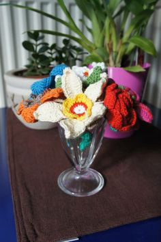 Crochet flower bouquet - www.facebook.com/IvkinKutak