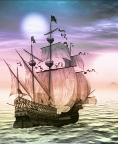 I love tall ships.  This is just beautiful.  --Meggie
