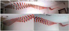 3D Tape Art Installation by Slava Ostapchenko. More tape art from Ostap here: http://tape-art-ostap.com