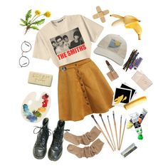 lonely arts club by hazerdazer on Polyvore featuring Retrò, Kensington Road, Paul & Joe, Fishs Eddy, Hermès, Hahn and Polaroid