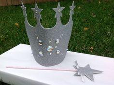 Glinda Crown & Matching Wand by NeverlandDesignsShop on Etsy