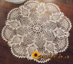 gorgeous pineapple doily - pattern chart in other pin