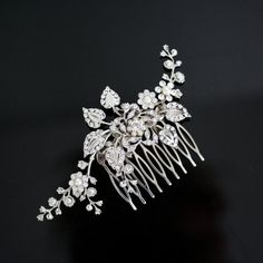 Bridal Hair Comb Wedding Hair Piece with Swarovski by LuluSplendor, $95.00